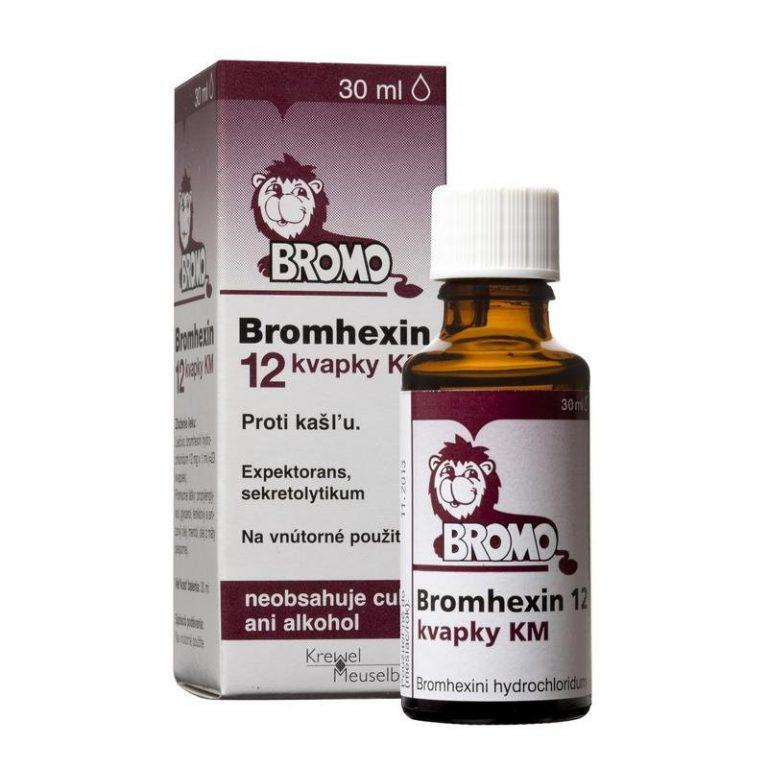 Bromhexin 12 kvapky KM cena, davkovanie a skusenosti