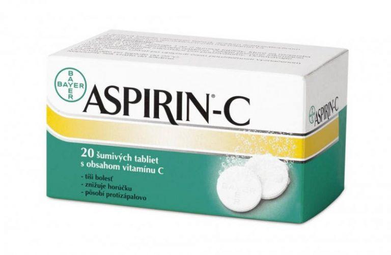 Aspirin C: šumivé tablety, cena, dávkovanie a účinky