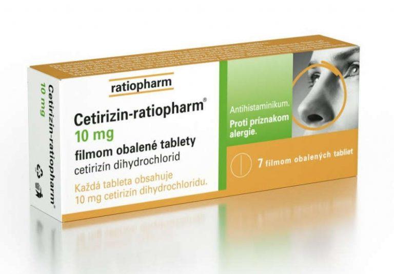Cetirizin-ratiopharm: cena, vedľajšie účinky a užívanie