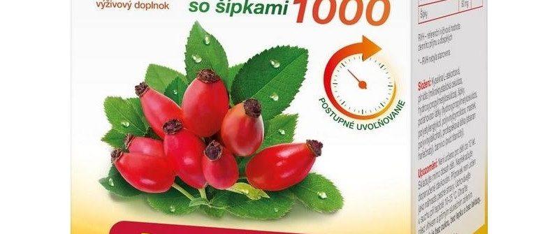 GS Vitamín C 1000 so šípkami: cena, dávkovanie a účinky
