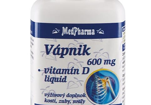 MedPharma Vápnik + Vitamín D: účinky, cena a dávkovanie