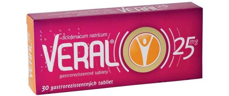 Veral 25 mg: tablety, cena, nežiaduce účinky a skúsenosti