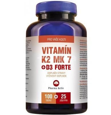 Vitamín K2 MK 7 + D3 Forte: cena, výhody a kde kúpiť