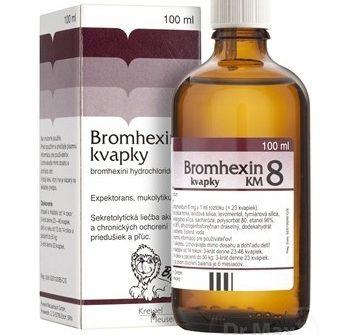 Bromhexin 8 kvapky KM: dávkovanie, zloženie a skúsenosti