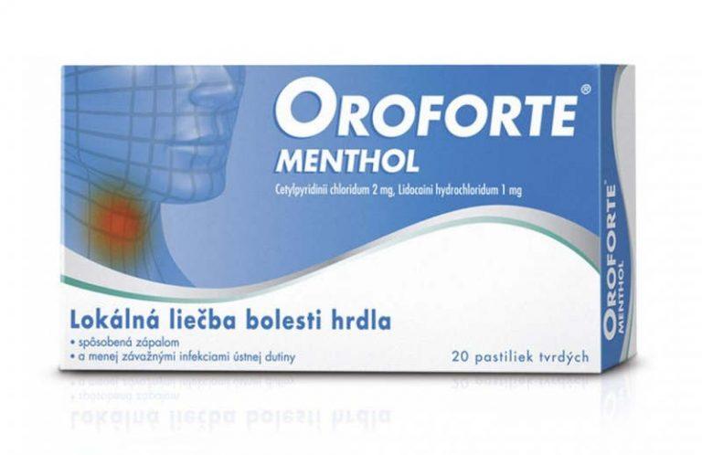 Oroforte menthol: cena, účinky, zloženie a dávkovanie